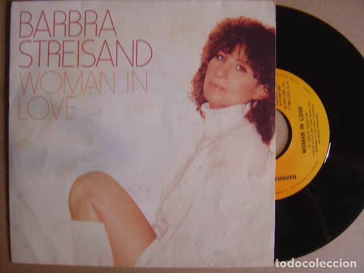 BARBRA STREISAND - WOMAN IN LOVE - SINGLE 1980 - CBS (Música - Discos - Singles Vinilo - Pop - Rock - Extranjero de los 70)
