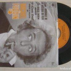 Discos de vinilo: MICHEL FUGAIN - BANDE ORIGINALE DU FILM JE SAIS RIEN MAIS JE DIRAI TOUT - SINGLE FRANCES 1973 CBS. Lote 124098991
