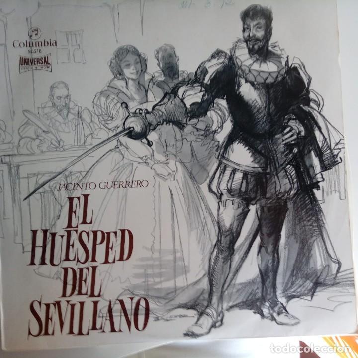 VINILO: ZARZUELA: EL HUESPED DEL SEVILLANO. UNIVERSAL 1970 (Música - Discos - Singles Vinilo - Clásica, Ópera, Zarzuela y Marchas)