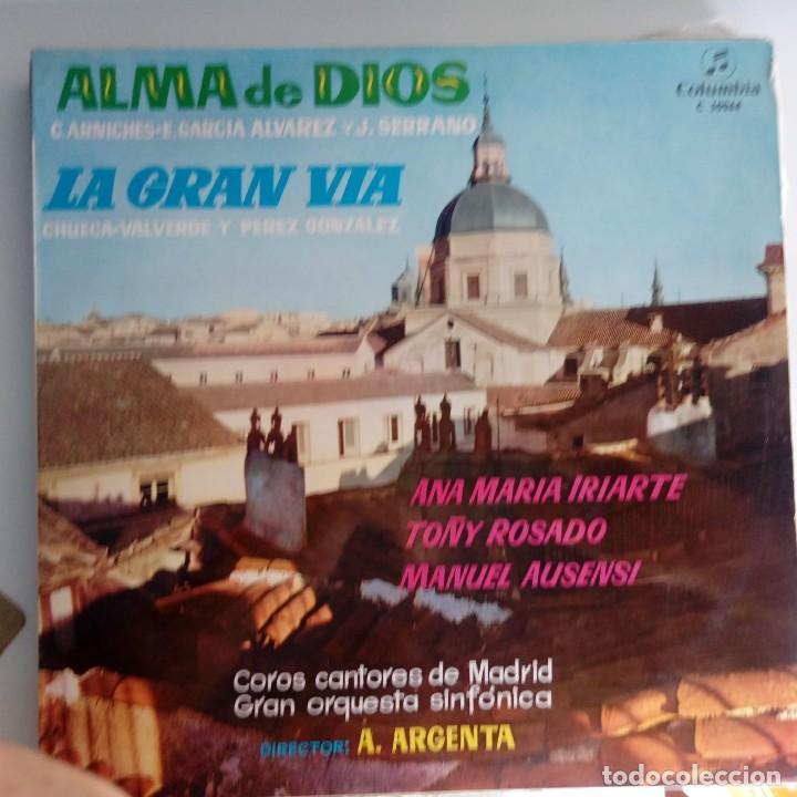 VINILO: ALMA DE DIOS. LA GRAN VIA. COLUMBIA 1971 (Música - Discos - Singles Vinilo - Clásica, Ópera, Zarzuela y Marchas)