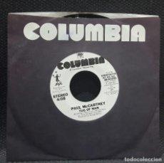Discos de vinilo: PAUL MCCARTNEY - BEATLES - TUG OF WAR - SINGLE - PROMOCIONAL - USA - EXCELENTE - COLUMBIA. Lote 124143291