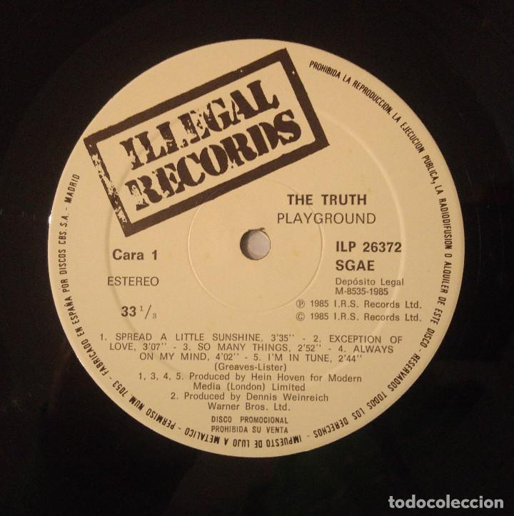 Discos de vinilo: The Truth...Playground.(I.R.S. Records Records 1985.) Spain. - Foto 4 - 124147375