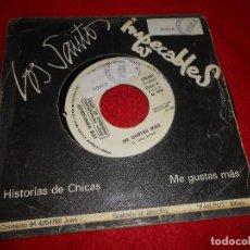 Discos de vinilo: LOS IMPECABLES ME GUSTAS MAS/LOS SANTOS HISTORIAS DE CHICAS 7 SINGLE GANGA GG-001 MOVIDA ROCK. Lote 124167503