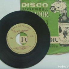 Discos de vinilo: DISCO ( SINGLE ) SORPRESA DE FUNDADOR : MUSICA NORTEAMERICANA. Lote 124176315