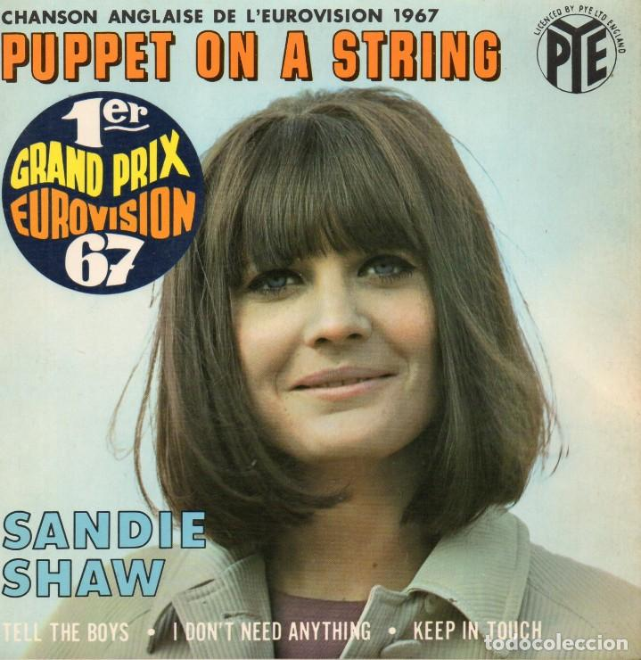Discos de vinilo: SANDIE SHAW - EUROVISION 67 -, EP, PUPPET ON A STRING + 3, AÑO 1967 MADE IN FRANCE - Foto 1 - 124199251