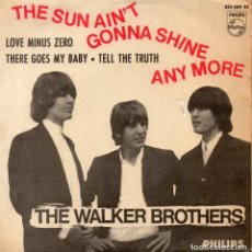 Discos de vinilo: WALKER BROTHERS, THE, EP, THE SUN AIN´T GONNA SHINE ANY MORE + 3, AÑO 1966. Lote 124201023