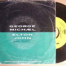 Discos de vinilo: GEORGE MICHAEL - DON´T LET THE SUN - SINGLE PROMOCIONAL SOLO UNA CANCION 1991 - EPIC. Lote 124210959