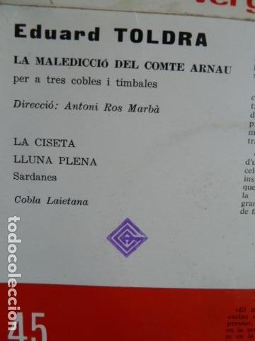 Discos de vinilo: eduard toldra -la maledicio del comte arnau - - Foto 2 - 124215423