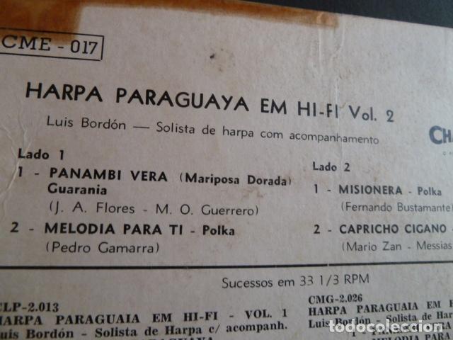 Discos de vinilo: harpa paraguaia em hifi-luis bordon vol.2 - Foto 4 - 124217335