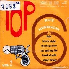 Discos de vinilo: TOP HIT'S MUNDIALES VOL.2 / LOLA + 5 (EP 1970). Lote 124244435