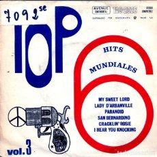 Discos de vinilo: TOP HIT'S MUNDIALES VOL.3 / MY SWEET LORD + 5 (EP 1970). Lote 124244455