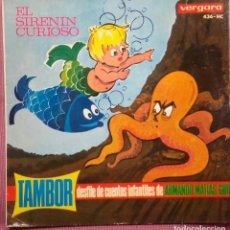Discos de vinilo: TAMBOR. DESFILE DE CUENTOS - EL SIRENIN CURIOSO SN VERGARA 1964 (SOLO CARATULA). Lote 124268787