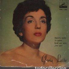 Discos de vinilo: DISCO DE GLORIA LASSO - VOZ DE SU AMO EP. 45 R.P.M. 7 ERL 1284 AQUELLA NOCHE TE QUIERO. Lote 124276179