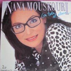 Discos de vinilo: LP - NANA MOUSKOURI - CON TODA EL ALMA (DOBLE DISCO, SPAIN, PHILIPS 1986). Lote 124284455