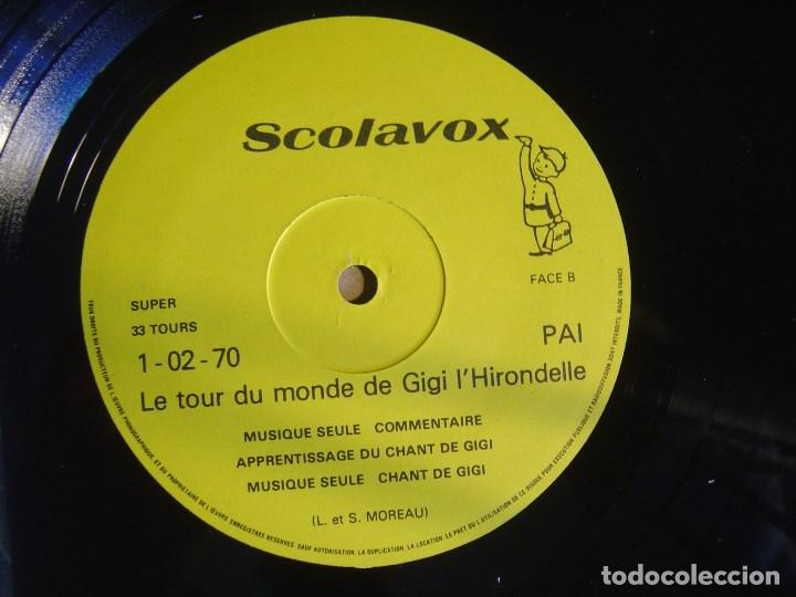 Discos de vinilo: LE TOUR DU MONDE DE GIGI L´HIRONDELLE - LP FRANCES CON 50 DIAPOSITIVAS - SCOLAVOX - Foto 3 - 124289447