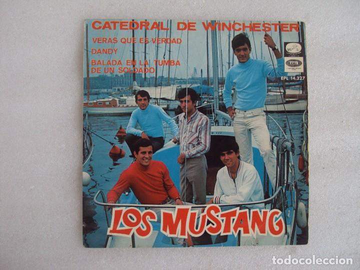 LOS MUSTANG. CATEDRAL DE WINCHESTER. EP EDICION ESPAÑOLA 1967. EMI. LA VOZ DE SU AMO. (Música - Discos de Vinilo - EPs - Grupos Españoles 50 y 60)
