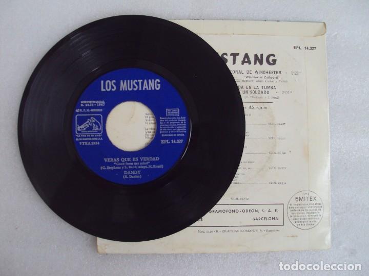 Discos de vinilo: LOS MUSTANG. CATEDRAL DE WINCHESTER. EP EDICION ESPAÑOLA 1967. EMI. LA VOZ DE SU AMO. - Foto 3 - 124291179