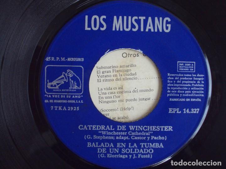 Discos de vinilo: LOS MUSTANG. CATEDRAL DE WINCHESTER. EP EDICION ESPAÑOLA 1967. EMI. LA VOZ DE SU AMO. - Foto 5 - 124291179
