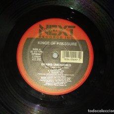 Discos de vinilo: KINGS OF PRESSURE – BRAINS UNCHAINED / SLANG TEACHER. Lote 124319723