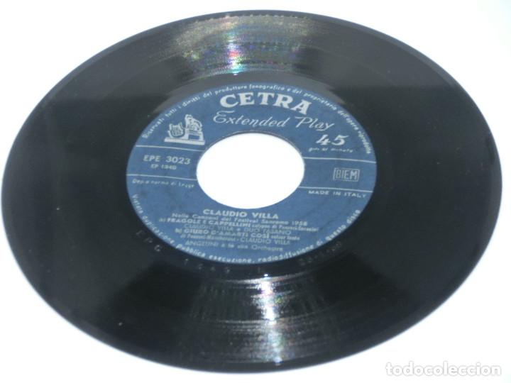 SINGLE - CLAUDIO VILLA - NELLA CANZONI DEL FESTIVAL SAN REMO 1958 - FRAGOLE E CAPPELLINI (SIN FUNDA) (Música - Discos - Singles Vinilo - Pop - Rock Extranjero de los 50 y 60)