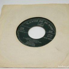 Discos de vinilo: SINGLE - PROMOCIONAL - GLORIA LASSO Y FRANCK POURCEL - LISBOA ANTIGUA - LA MALAGUEÑA. Lote 198548696