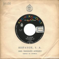 Discos de vinilo: RAY CHARLES - I CAN'T STOP LOVING YOU / HIT THE ROAD JACK (45 RPM) HISPAVOX - EX++. Lote 124424199