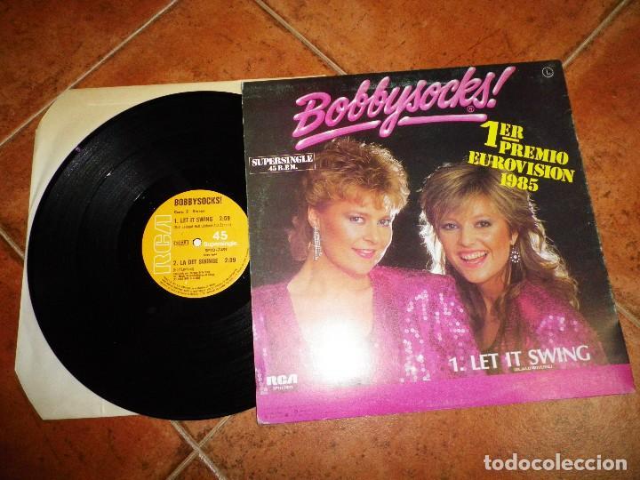 Discos de vinilo: BOBBYSOCKS Let it swing / La det swinge FESTIVAL EUROVISION NORUEGA 1985 MAXI SINGLE VINILO 2 TEMAS - Foto 2 - 124434859