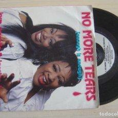 Discos de vinilo: KYM MAZELLE & JOCELYN BROWN - NO MORE TEARS (ENOUGH IS ENOUGH) + ONE MORE TIME - SINGLE 1984 - ARIST. Lote 124436019