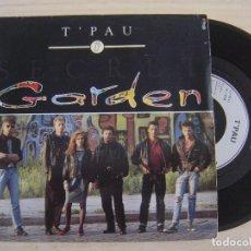 Discos de vinilo: T'PAU - SECRET GARDEN + THIS GIRL - SINGLE FRANCES 1988 - SIREN. Lote 124436443