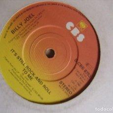 Discos de vinilo: BILLY JOEL - THROUGH THE LONG NIGHT + IT´S STILL ROCK - SINGLE UK 1980 - CBS. Lote 124437667