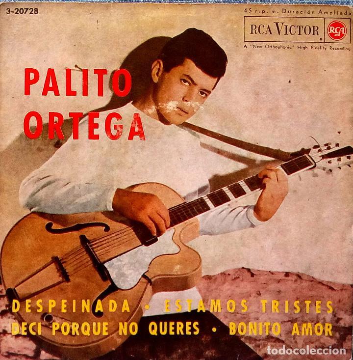 PALITO ORTEGA - DESPEINADA + 3 - VERSION ORIGINAL ESPAÑOLA EP - RCA VICTOR DE 1964 (Música - Discos de Vinilo - EPs - Grupos y Solistas de latinoamérica)