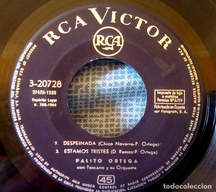 Discos de vinilo: PALITO ORTEGA - DESPEINADA + 3 - VERSION ORIGINAL ESPAÑOLA EP - RCA VICTOR DE 1964 - Foto 3 - 124439599