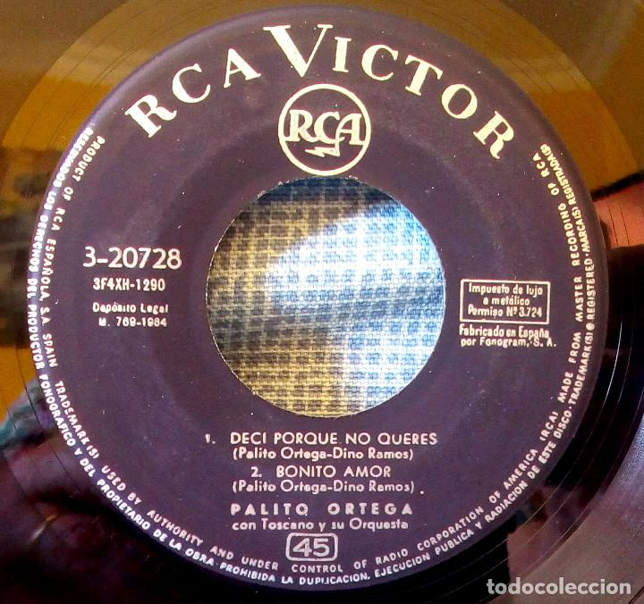 Discos de vinilo: PALITO ORTEGA - DESPEINADA + 3 - VERSION ORIGINAL ESPAÑOLA EP - RCA VICTOR DE 1964 - Foto 4 - 124439599