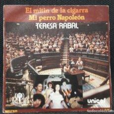 Discos de vinilo: TERESA RABAL - EL MITIN DE LA CIGARRA - SINGLE - BELTER - 1979 - INFANTIL - INFANTILES. Lote 124444363