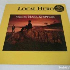 Discos de vinilo: LP - LOCAL HERO - MARK KNOPFLER - 1983 - INSERTO NEGRO - BANDA SONORA ORIGINAL - BSO. Lote 191577756