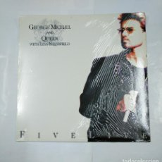 Discos de vinilo: GEORGE MICHAEL AND QUEEN WITH LISA STANSFIELD. - FIVE LIVE - LP. TDKDA26. Lote 124449679