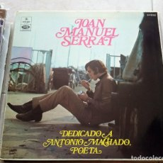 Discos de vinilo: JOAN MANUEL SERRAT : MACHADO, ARGENTINA.. Lote 124454155