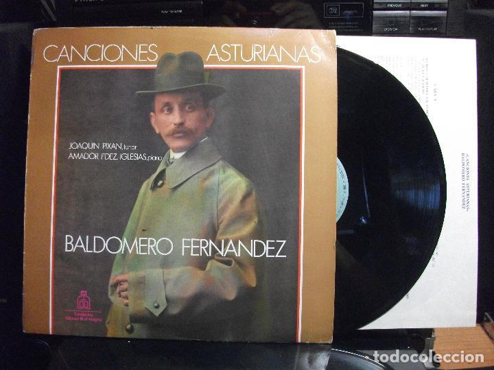 JOAQUIN PIXAN BALDOMERO FERNANDEZ CANCIONES ASTURIANAS LP SFA 1986 CON ENCARTES ASTURIAS (Música - Discos - LP Vinilo - Clásica, Ópera, Zarzuela y Marchas)