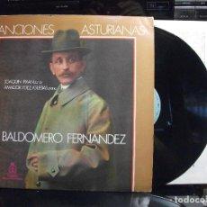 Discos de vinilo: JOAQUIN PIXAN BALDOMERO FERNANDEZ CANCIONES ASTURIANAS LP SFA 1986 CON ENCARTES ASTURIAS . Lote 124454783