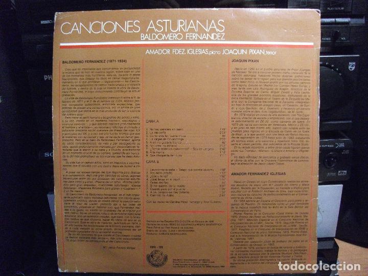 Discos de vinilo: JOAQUIN PIXAN BALDOMERO FERNANDEZ CANCIONES ASTURIANAS LP SFA 1986 CON ENCARTES ASTURIAS - Foto 2 - 124454783