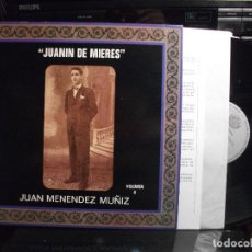 Discos de vinilo: JUANIN DE MIERES JUAN MENENDEZ MUÑIZ VOL 8 SFA 1991PRINCIPADO DE ASTURIAS CON ENCATE PEPETO. Lote 124455715