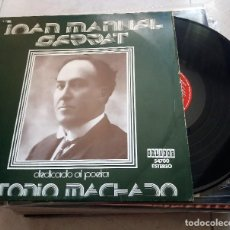 Discos de vinilo: JOAN MANUEL SERRAT : MACHADO. Lote 124456163