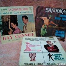 Discos de vinilo: TRES SINGLES DE BANDAS SONORAS. Lote 124467159