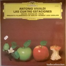 Discos de vinilo: ANTONIO VIVALDI, MICHEL SCHAWALBE, ORQUESTA FILARMONICA BERLIN, HERBERT VON KARAJAN - LAS 4 ESTACION. Lote 191555551