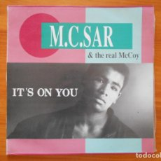 Discos de vinil: MAXI SINGLE M.C. SAR & THE REAL MCCOY - IT'S ON YOU (CL). Lote 124499691
