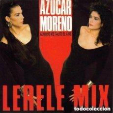 Discos de vinilo: AZUCAR MORENO - AUNQUE ME FALTE EL AIRE (LERELE MIX) - MAXI-SINGLE PROMO SPAIN. Lote 124516863