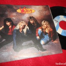Discos de vinilo: VIXEN HOW MUCH LOVE/WRECKING BALL 7'' SINGLE 1990 EMI ITALY. Lote 124528907