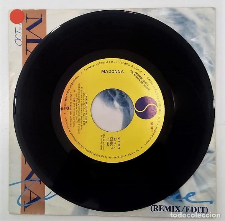 Discos de vinilo: MADONNA - TRUE BLUE - SG PROMO - ED ESPAÑOLA 1986 - Foto 3 - 124531939