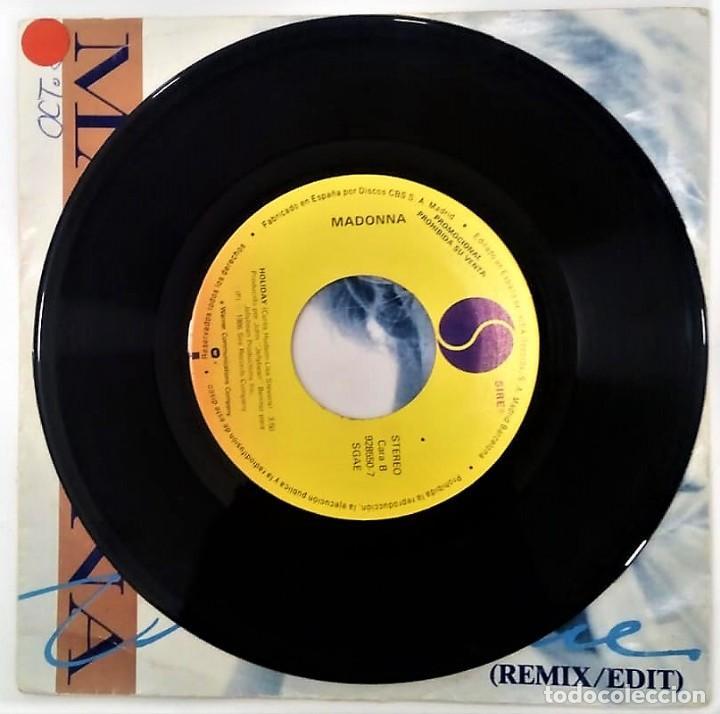 Discos de vinilo: MADONNA - TRUE BLUE - SG PROMO - ED ESPAÑOLA 1986 - Foto 4 - 124531939