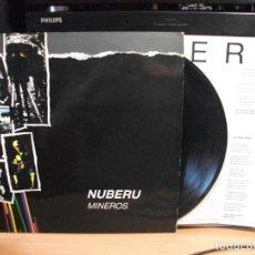 Discos de vinilo: NUBERU MINEROS (FONOASTUR 1987) LP CON ENCARTES ASTURIAS. Lote 124532007